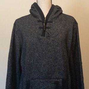 Billabong Toggle Hoodie Speckled Blue Sweatshirt